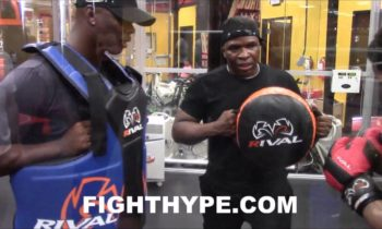 SHAWN PORTER KNOCKS TRAINERS BACK & OFF BALANCE; DISPLAYS POWER IN BOTH HANDS AHEAD OF THURMAN CLASH