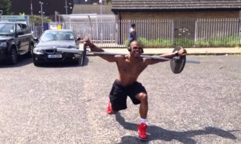 Simeon Panda – Outdoor Walking Lunges Up & Downhill