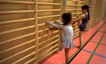 Diana's gym exercises for kids (  wall bars)