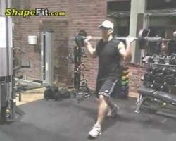 Quadriceps Exercises – Barbell Lunges For Building Big Legs