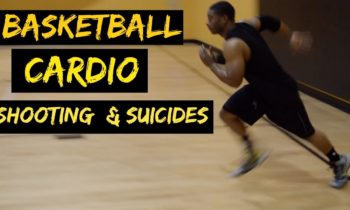 On the court Basketball Cardio | Shooting Drill & Suicide sprints