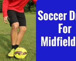 Soccer Drill For Midfielders | Passing and Receiving Drills