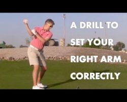 Golf Drill – The Correct Right Arm / Shoulder Movement
