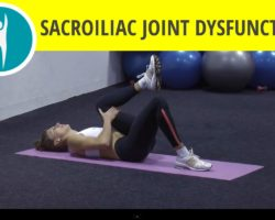 Stretching exercises for sciatic pain from sacroiliac joint dysfunction: single knee chest stretch