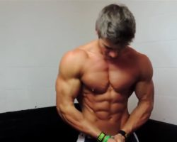 Muscle Flexing Six Pack Abs Guy Model P boys 2017