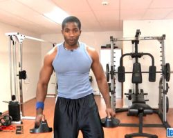 New York celebrity fitness personal  trainer/coach Donovan Green teaches muscle toning drills.