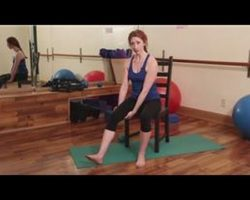 Exercise for Seniors : Knee Strengthening Exercises Done Sitting in a Chair